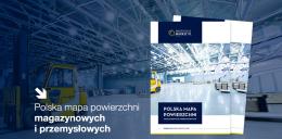 Polska mapa powierzchni magazynowych i przemysłowych