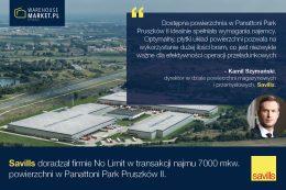 Savills doradzał firmie No limit w najmie powierzchni w Panattoni Park Pruszków II
